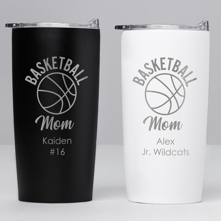 personalized basketball mom tumbler gift