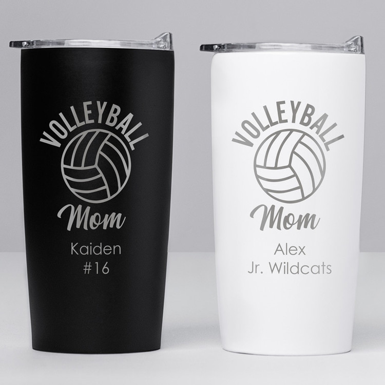 personalized volleyball mom tumbler gift