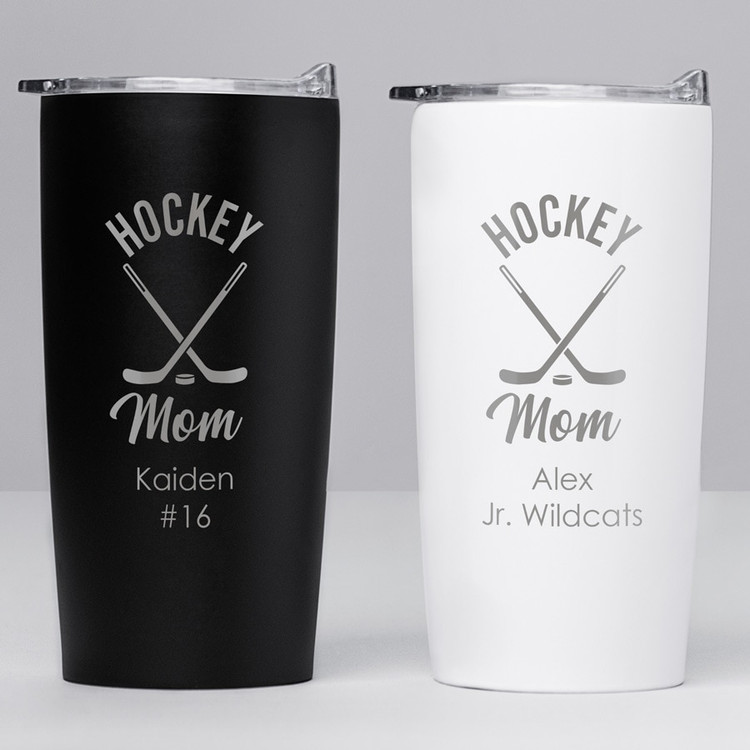 personalized hockey mom tumbler gift