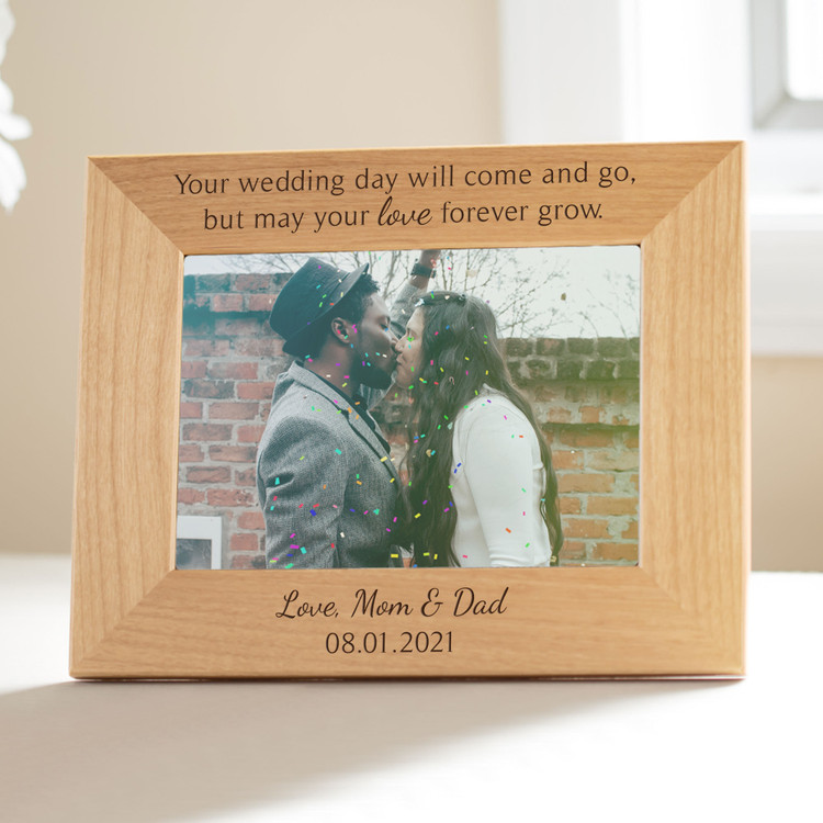 personalized wedding day picture frame