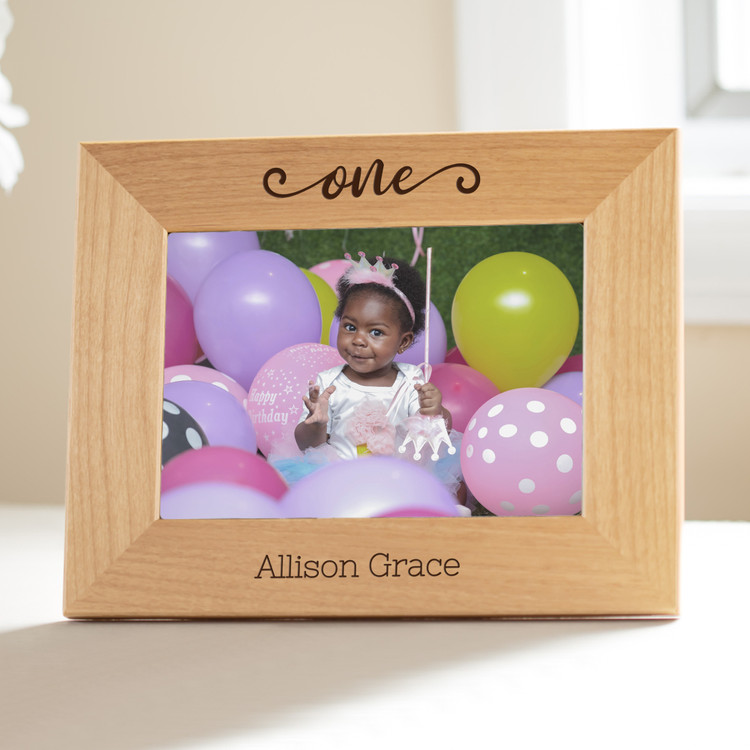 personalized baby first birthday picture frame
