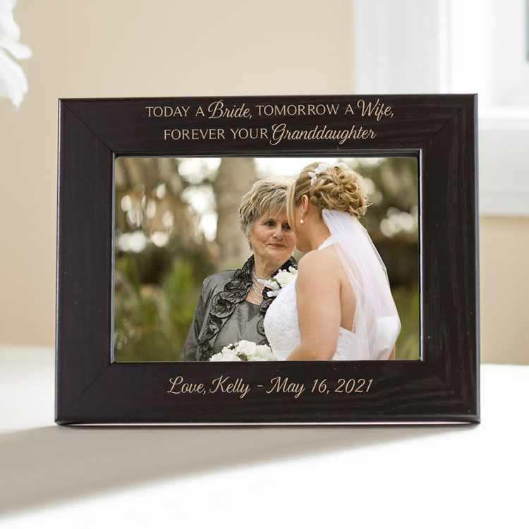personalized grandmother of the bride picture frame