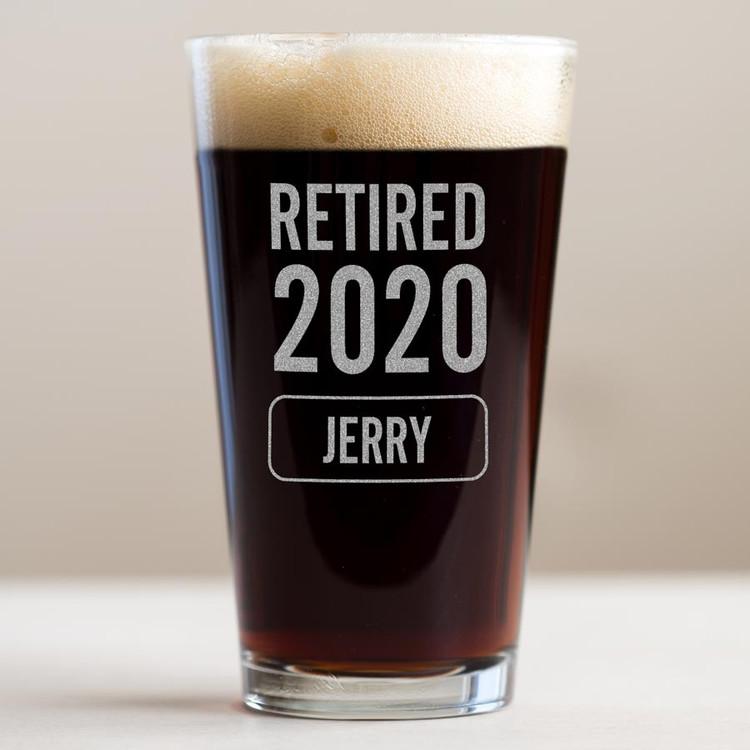 retirement beer glass 2020 gift
