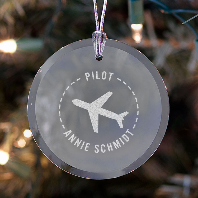personalized pilot ornament