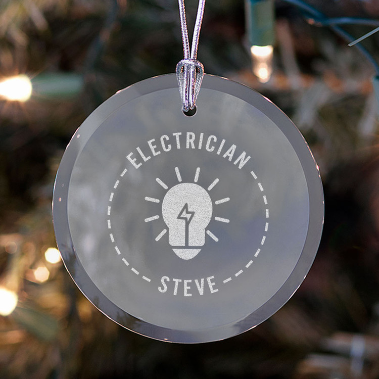 personalized electrician ornament present