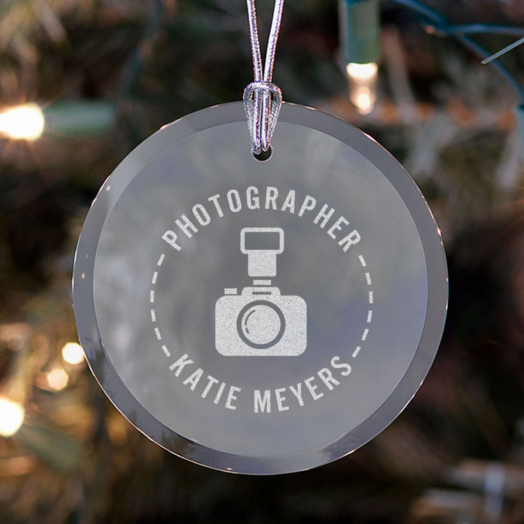 personalized photographer ornament