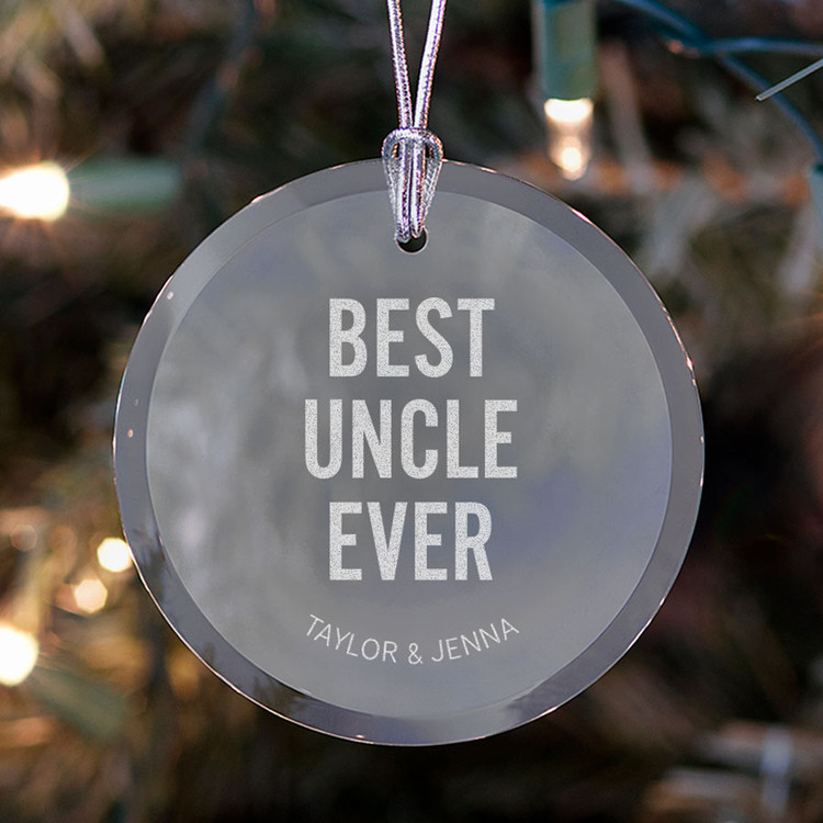 personalized best uncle ever ornament