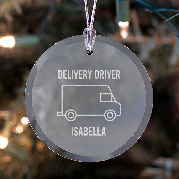 personalized delivery driver christmas ornament