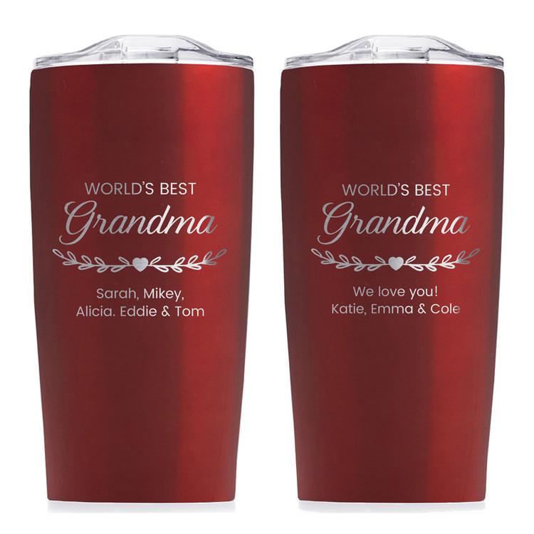 world's best grandma tumbler personalized christmas gift