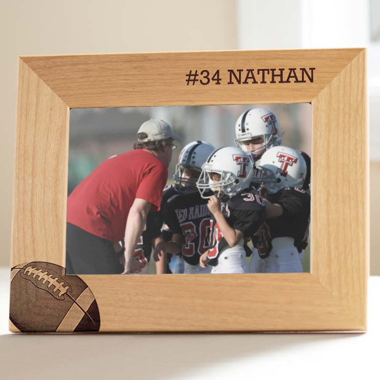 personalized youth football photo frame