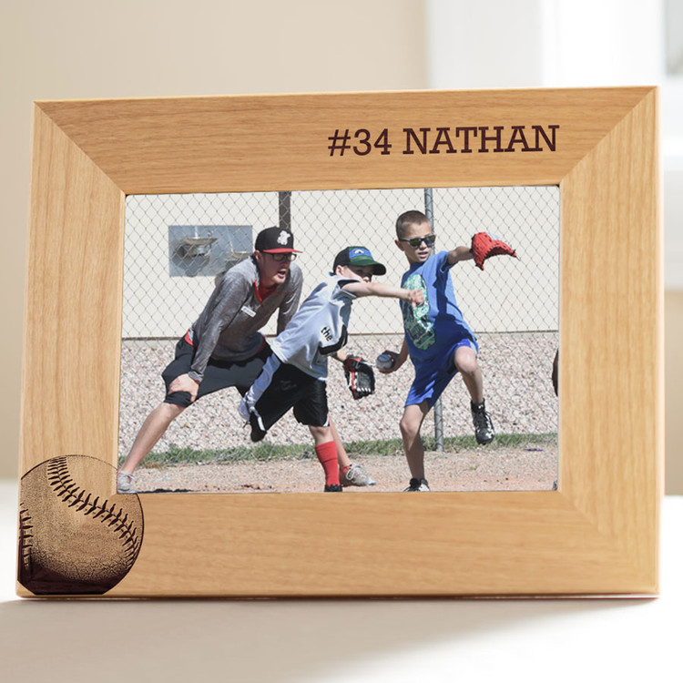 personalized youth baseball photo frame
