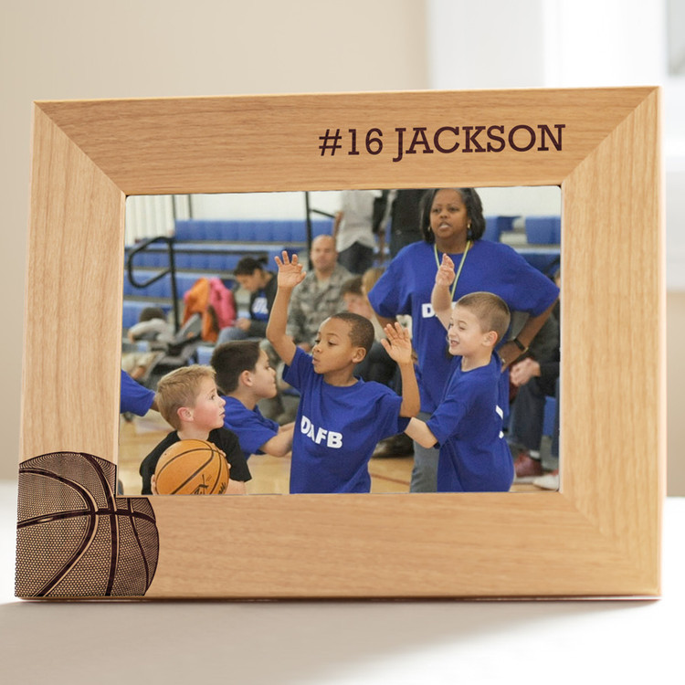 personalized youth basketball picture frame