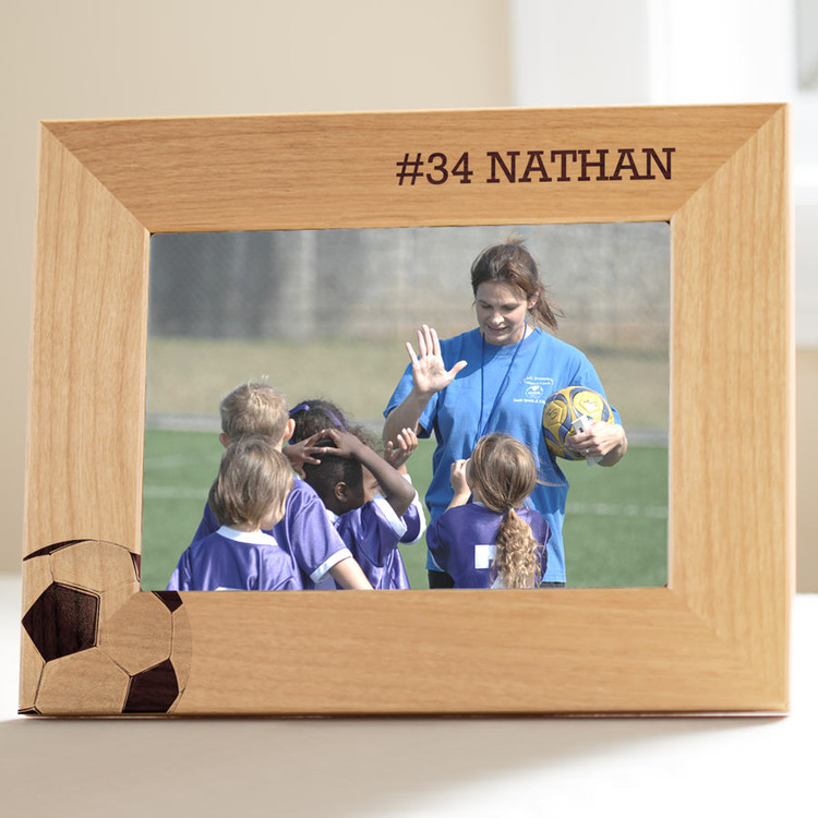 customized soccer picture frame gift
