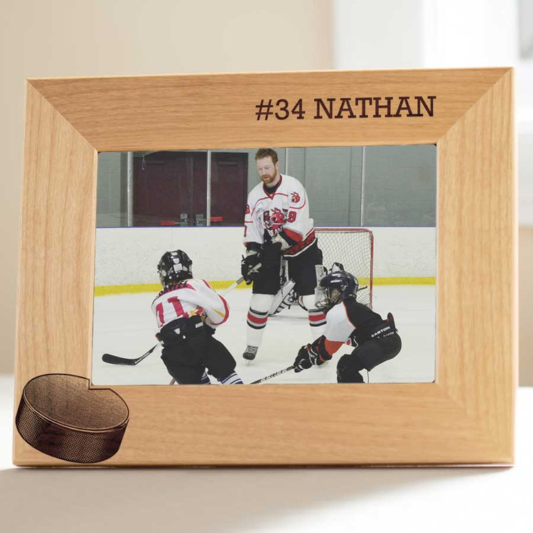 personalized ice hockey picture frame gift