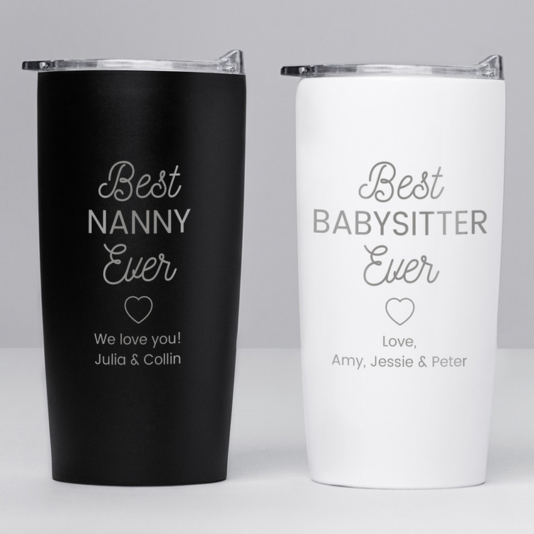 personalized best nanny baby sitter ever tumbler gift