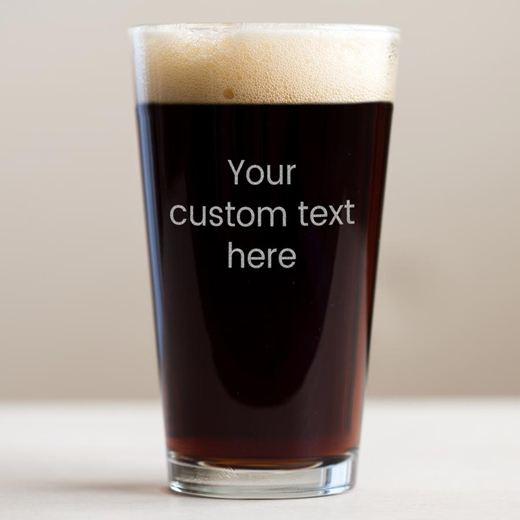 personalized pint glasses with custom text