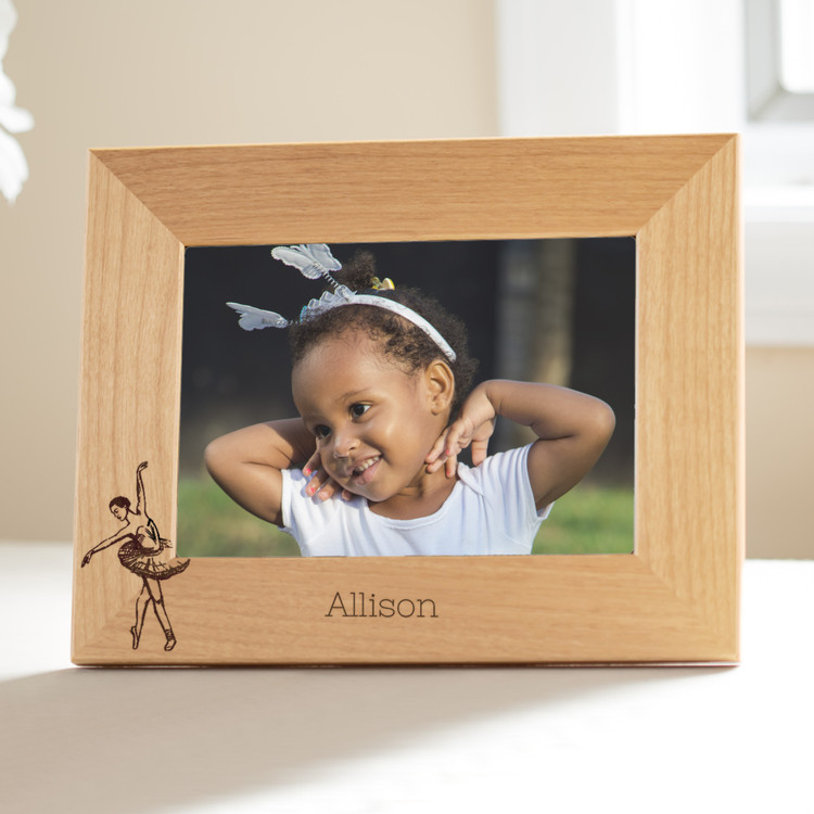 personalized ballet picture frame for young girls