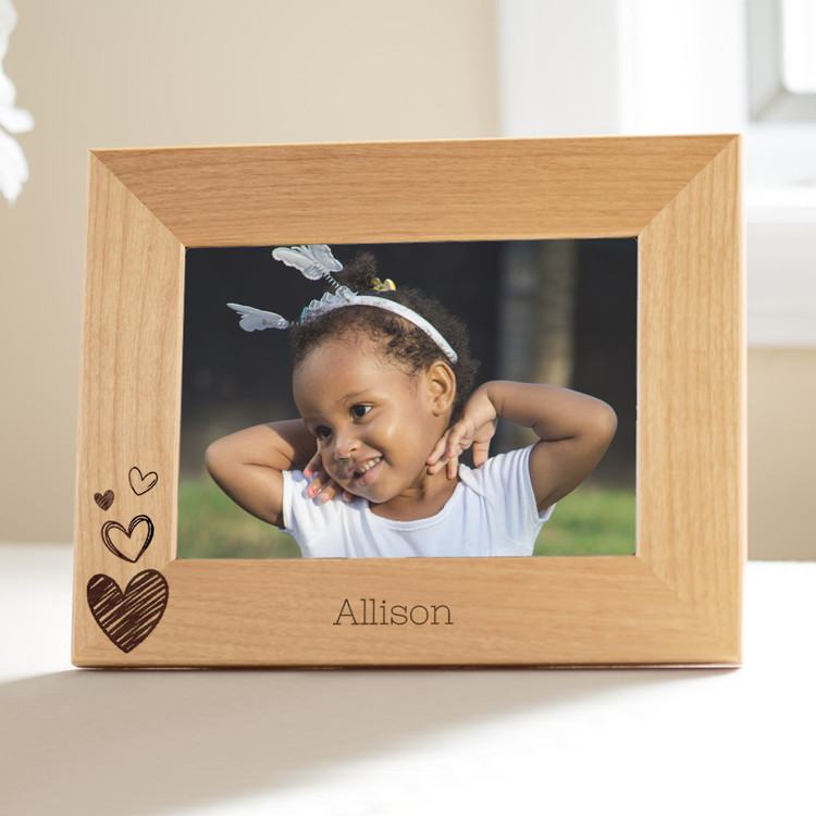 personalized heart picture frame for kids