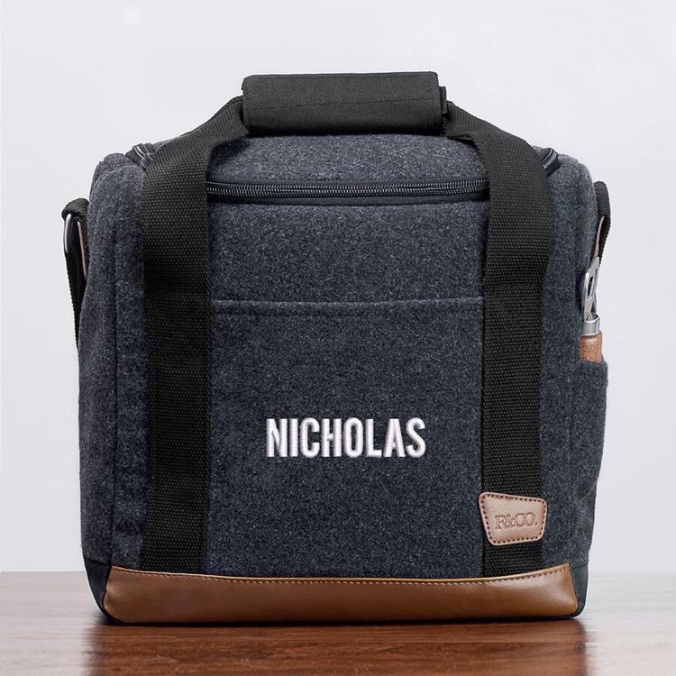 Embroidered Soft Sided Cooler Bag for Groomsmen