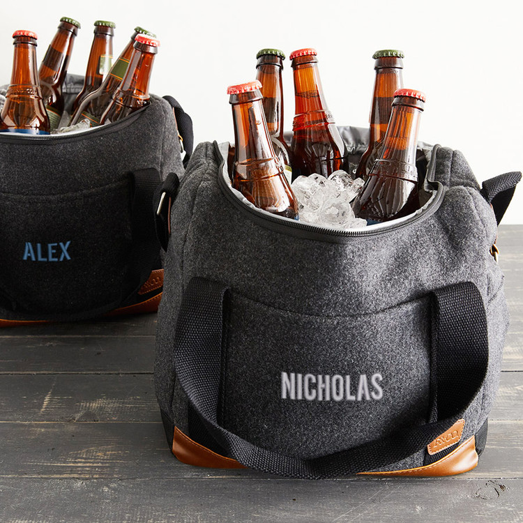 Personalized wool cooler bag