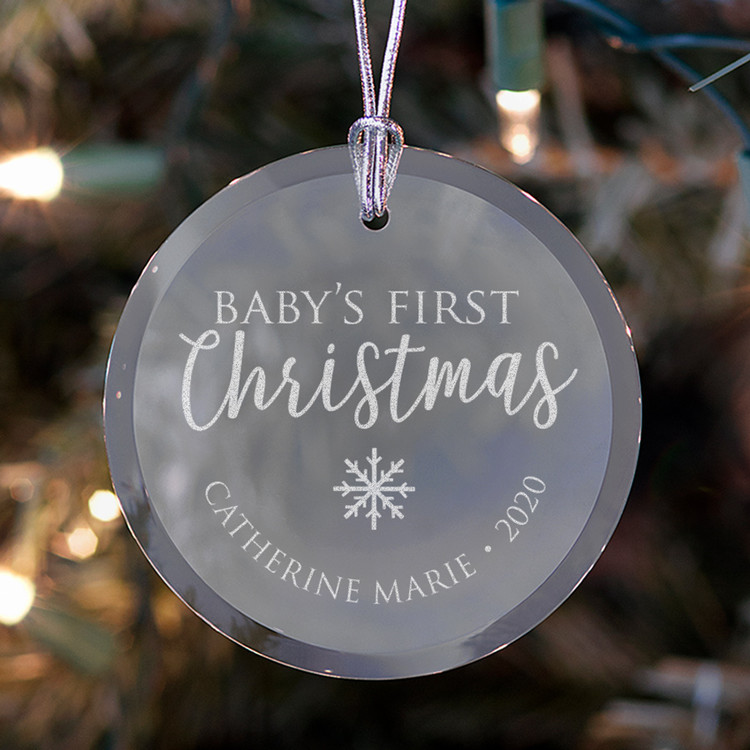 Personalized Baby's First Christmas Ornament Lifestyle