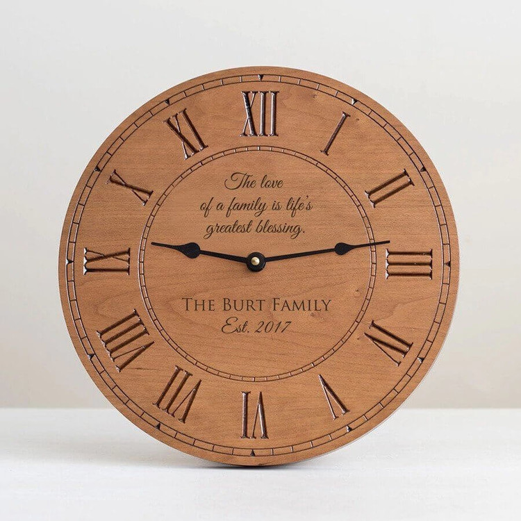 Personalized Family Wood Clock