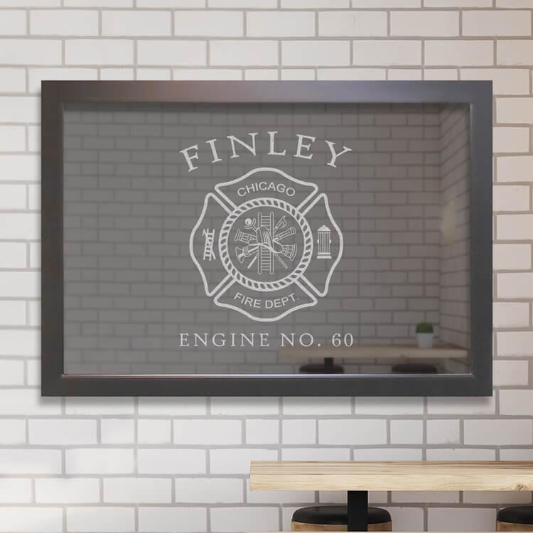 Custom Bar Mirror - Firefighter