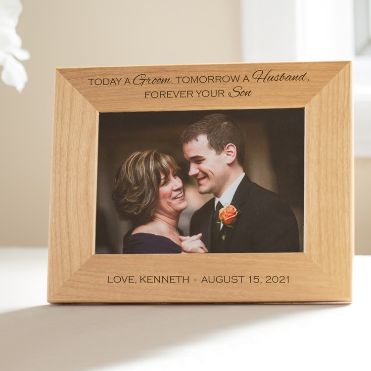 personalized mother of the groom picture frame gift