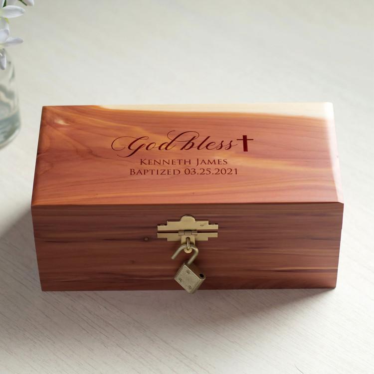 Personalized Baptism Keepsake Box