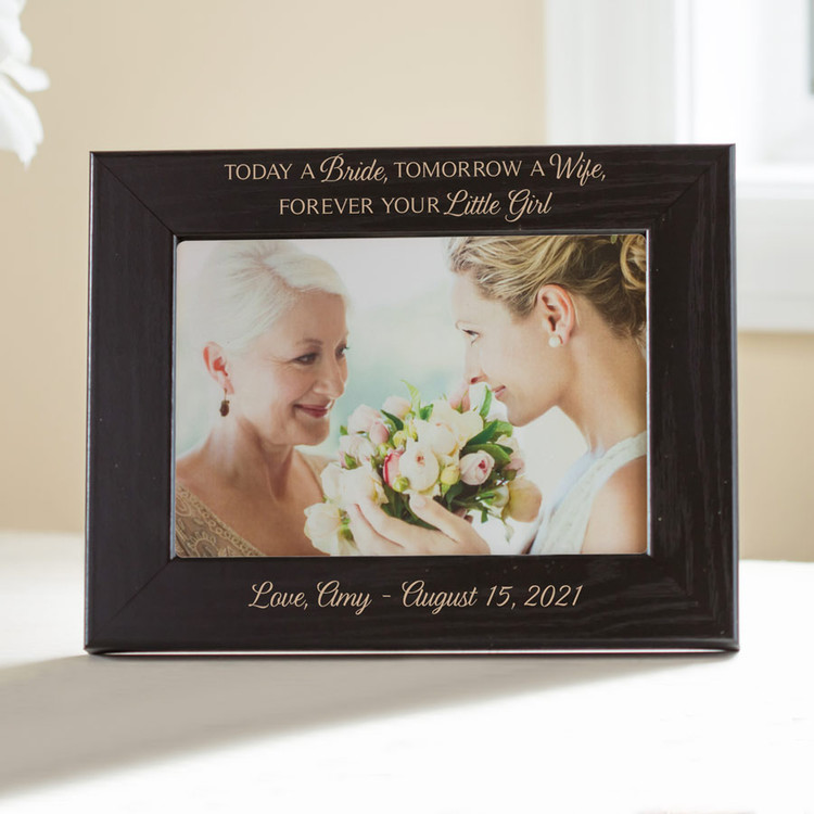Personalized Mother of the Bride Picture Frame (Black)