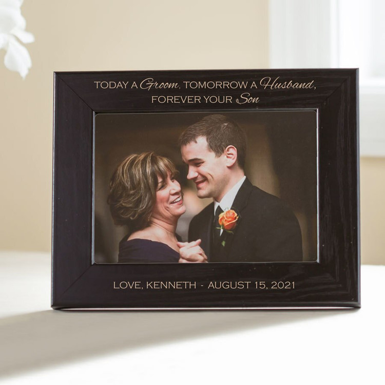Personalized Mother of Groom Picture Frame (Black)