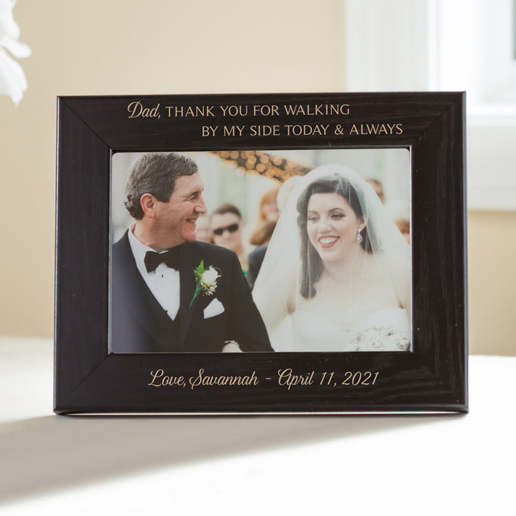 Personalized Father of Bride Picture Frame (Black)