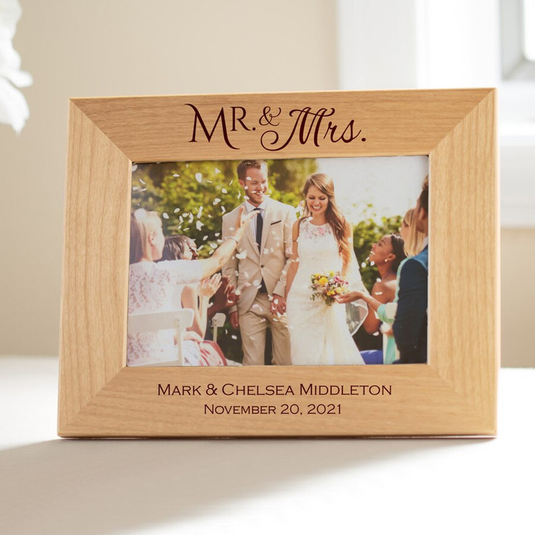 personalized mr and mrs picture frame