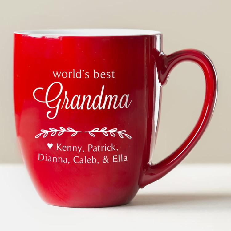 Personalized World's Best Grandma Coffee Mug