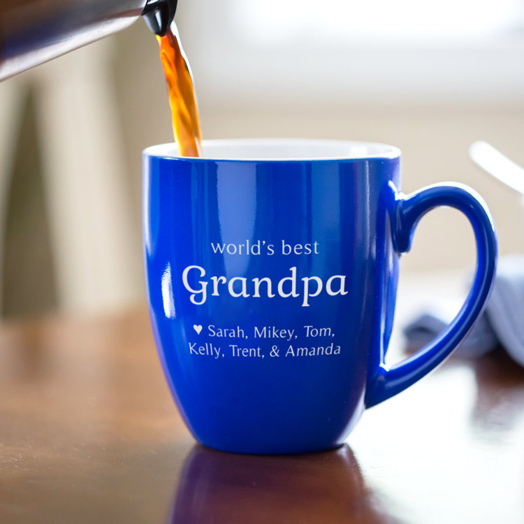 Personalized World's Best Grandpa Coffee Mug