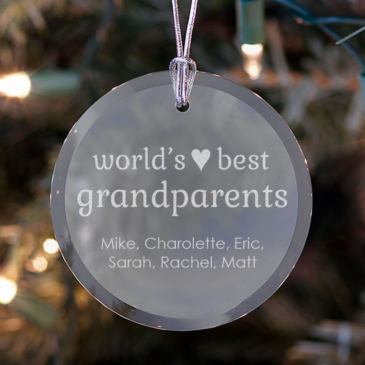 Personalized Grandparents Ornament