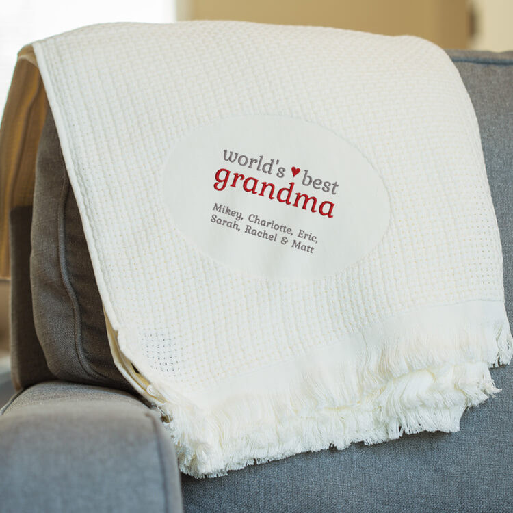 Personalized World's Best Grandma Blanket