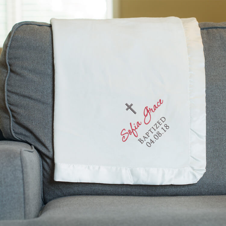 Personalized Baptism Blanket