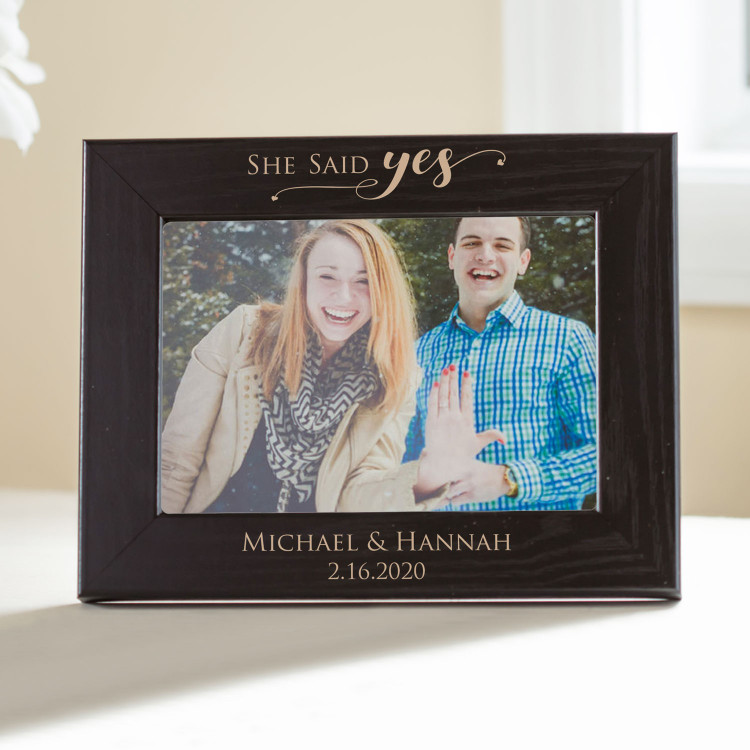 Personalized Engagement Picture Frame (Black)