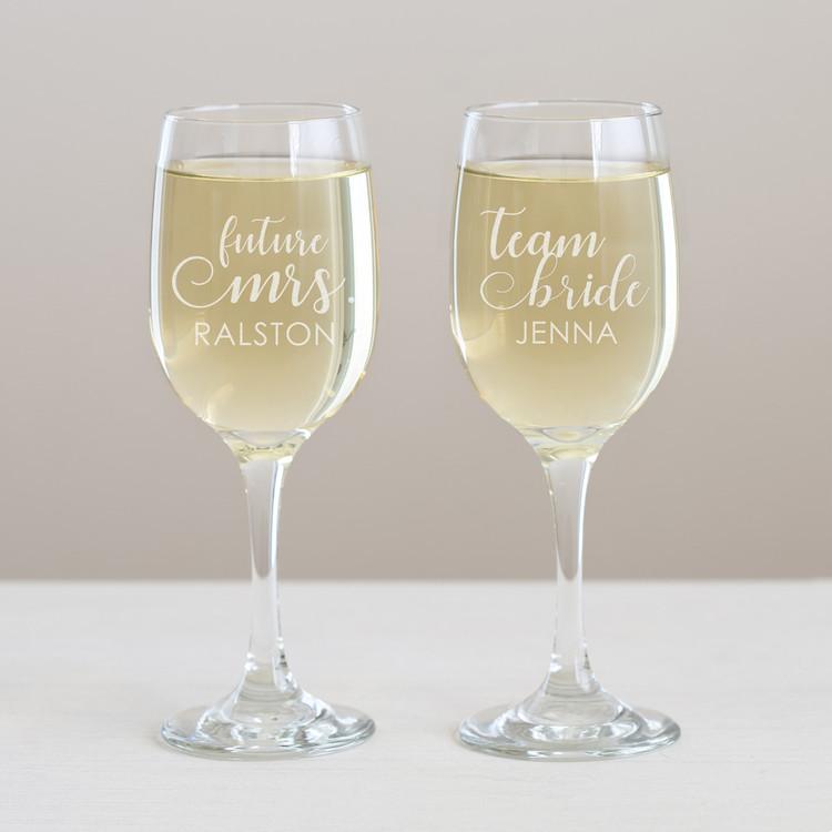 Personalized Bachelorette Wine Glass