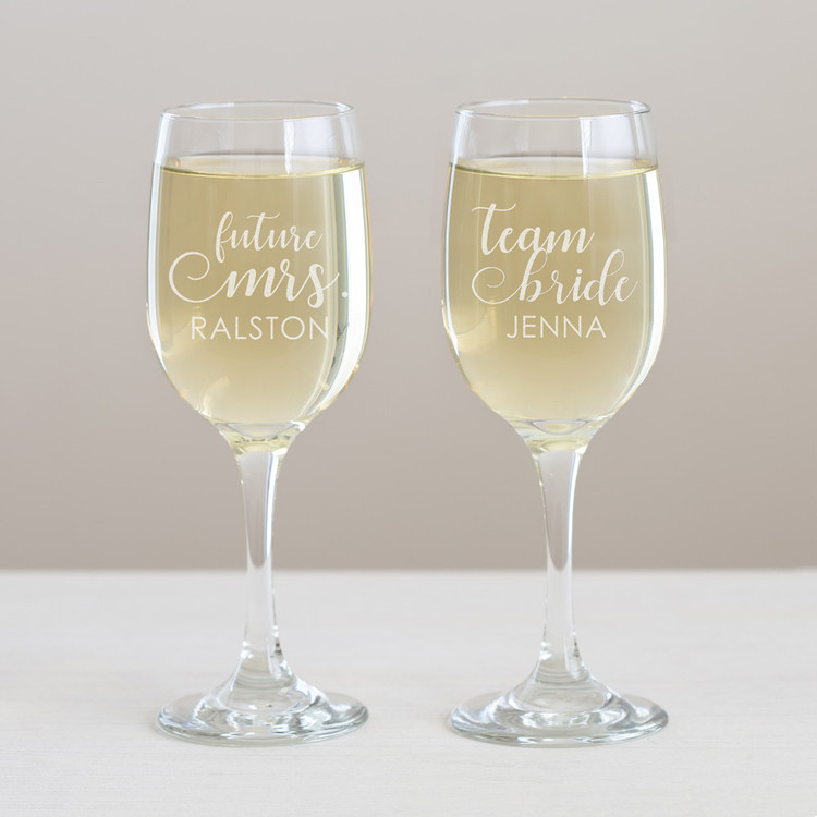 Personalized Bachelorette Wine Glass