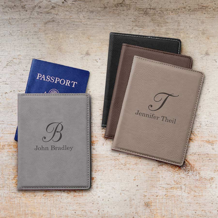 Personalized Passport Cover - Script Initial