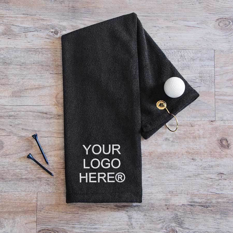 Custom Embroidered Golf Towel with Logo