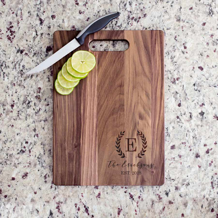 Family Name & Initial Walnut Cutting Board