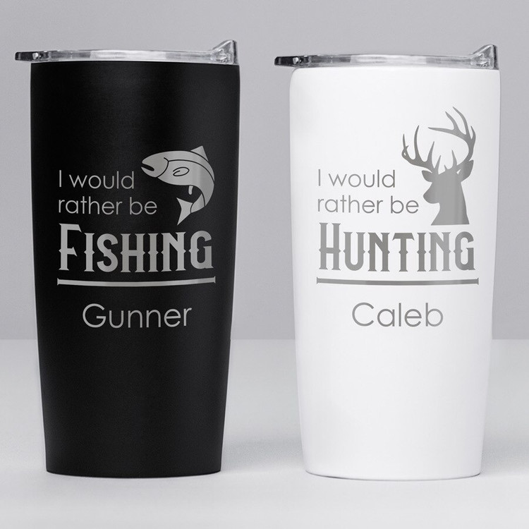 Personalized Outdoorsman Stainless Steel Tumbler