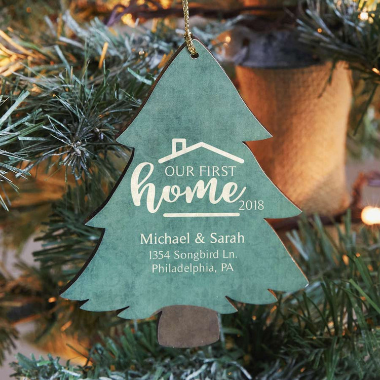 Personalized First Home Ornament - Tree