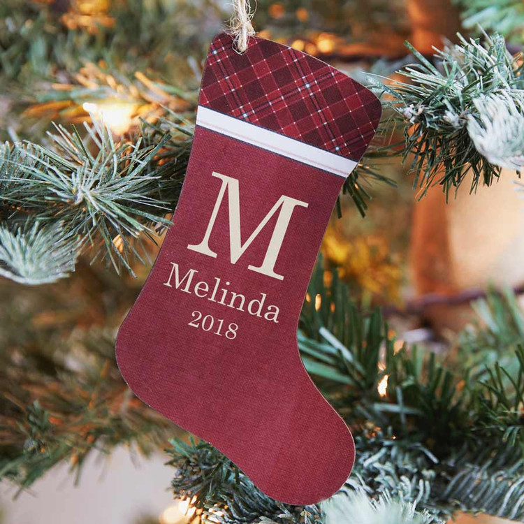 Personalized Christmas Stocking Ornament