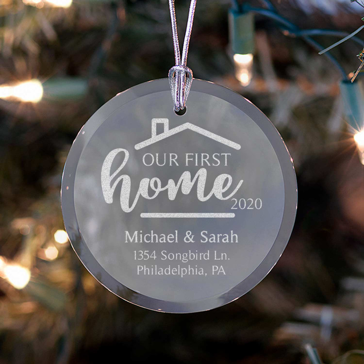 Personalized First Home Ornament