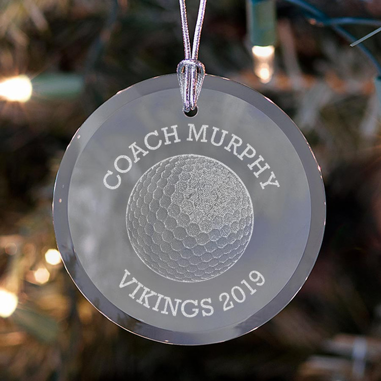 Personalized Golf Coach Ornament
