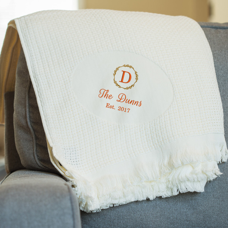 Embroidered Monogrammed Blanket